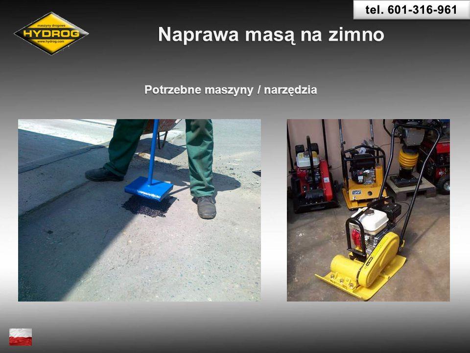 Potrzebne maszyny / narzędzia