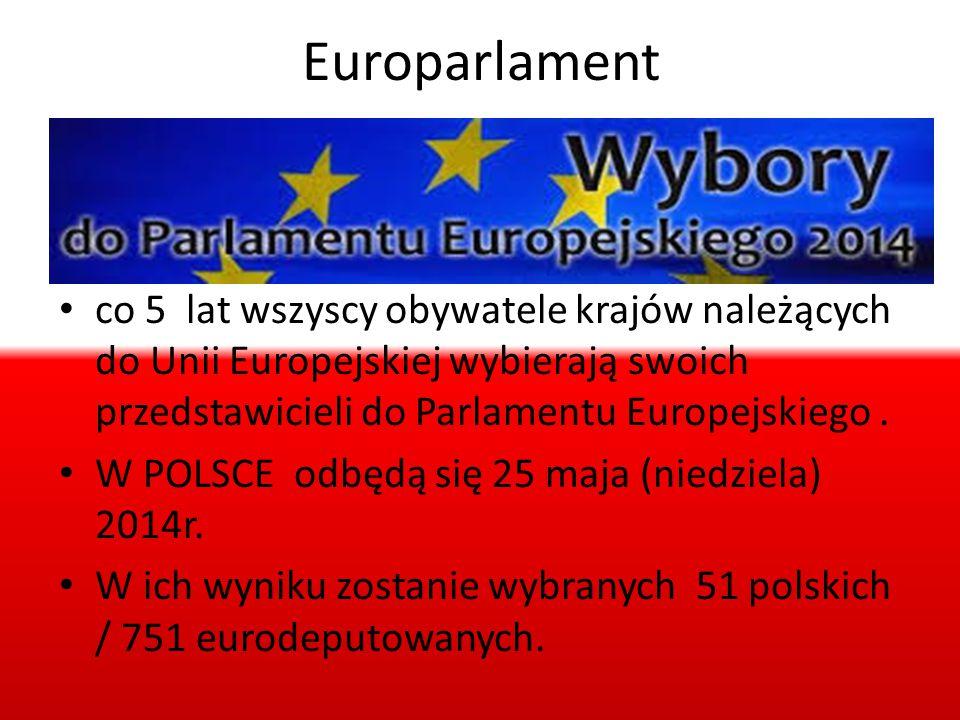 Europarlament co 5 lat wszyscy obywatele krajów należących do Unii Europejskiej wybierają swoich przedstawicieli do Parlamentu Europejskiego .