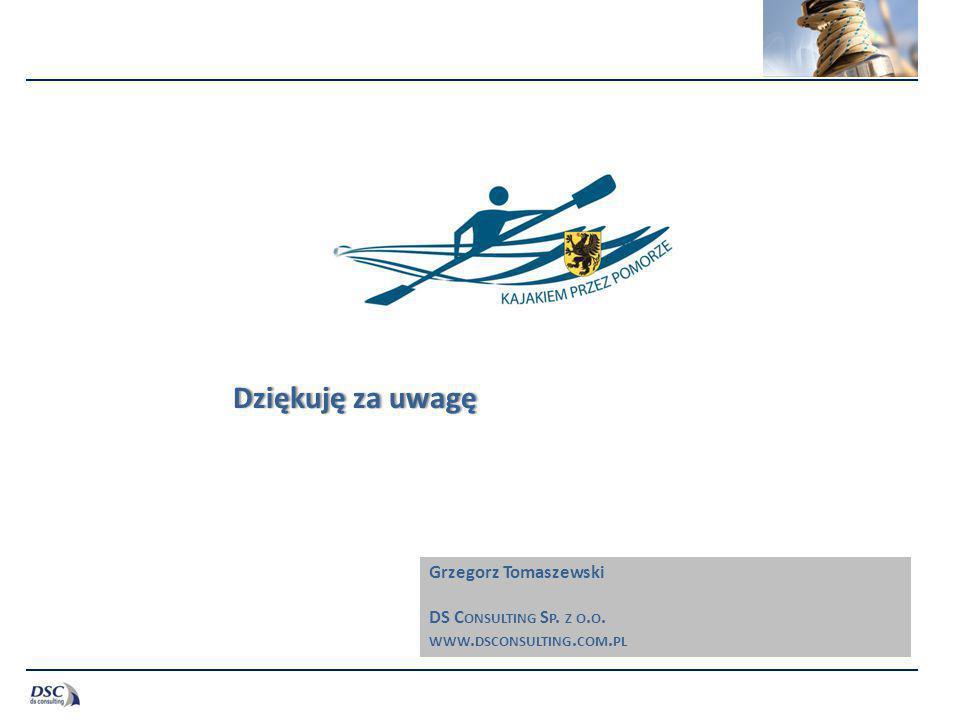 Dziękuję za uwagę Grzegorz Tomaszewski DS Consulting Sp. z o.o.