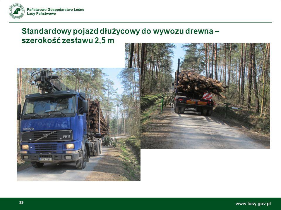 Standardowy pojazd dłużycowy do wywozu drewna – szerokość zestawu 2,5 m