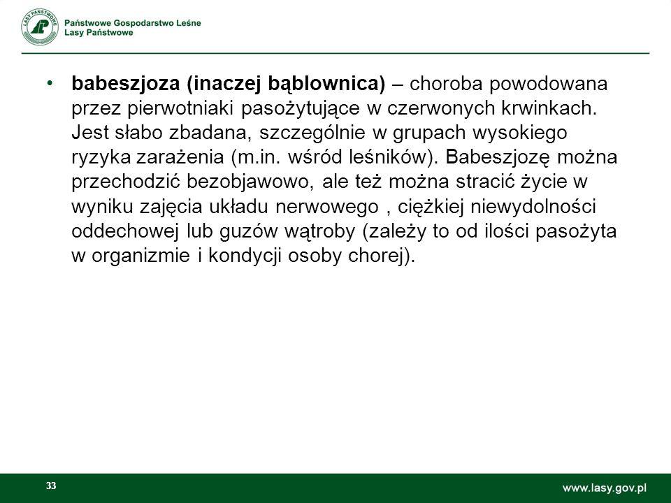 babeszjoza (inaczej bąblownica) – choroba powodowana przez pierwotniaki pasożytujące w czerwonych krwinkach.