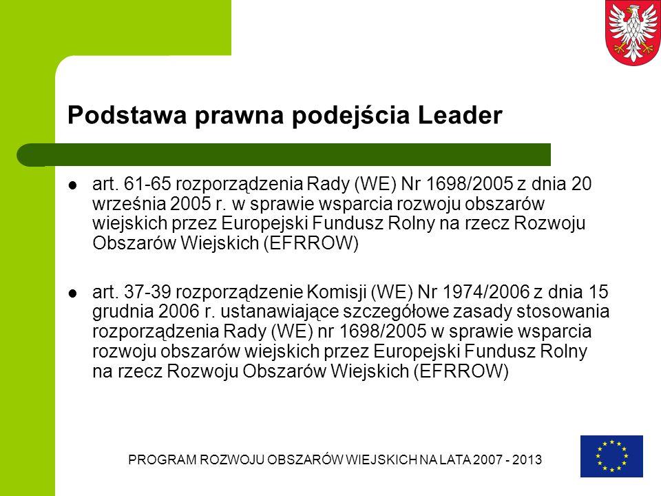 Podstawa prawna podejścia Leader