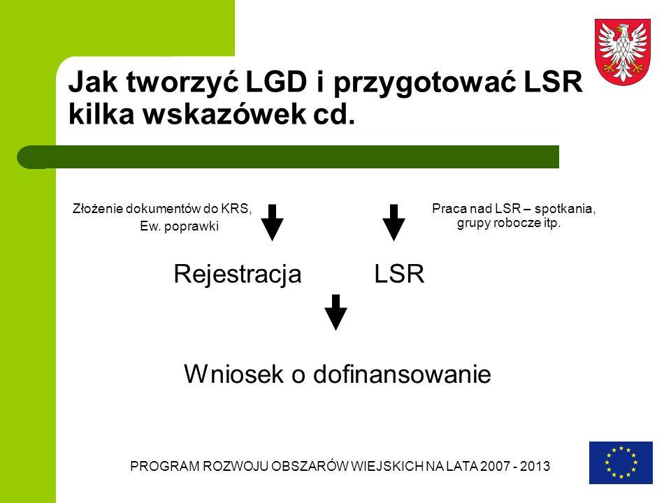 Jak tworzyć LGD i przygotować LSR kilka wskazówek cd.