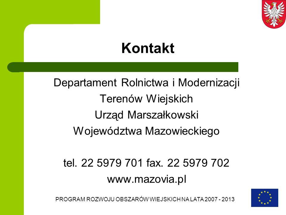 Kontakt Departament Rolnictwa i Modernizacji Terenów Wiejskich