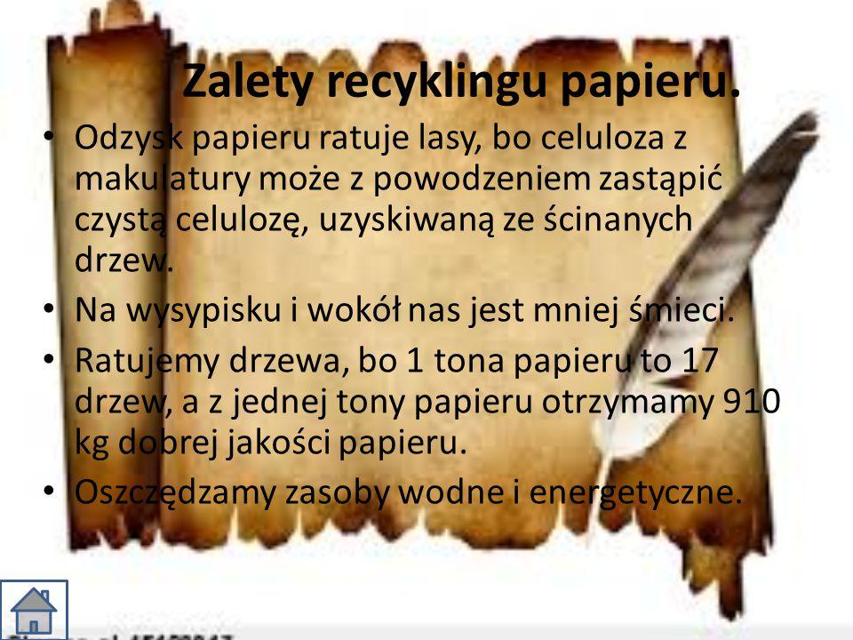 Zalety recyklingu papieru.