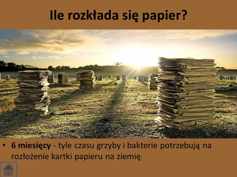 Ile rozkłada się papier