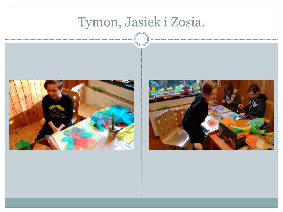 Tymon, Jasiek i Zosia.