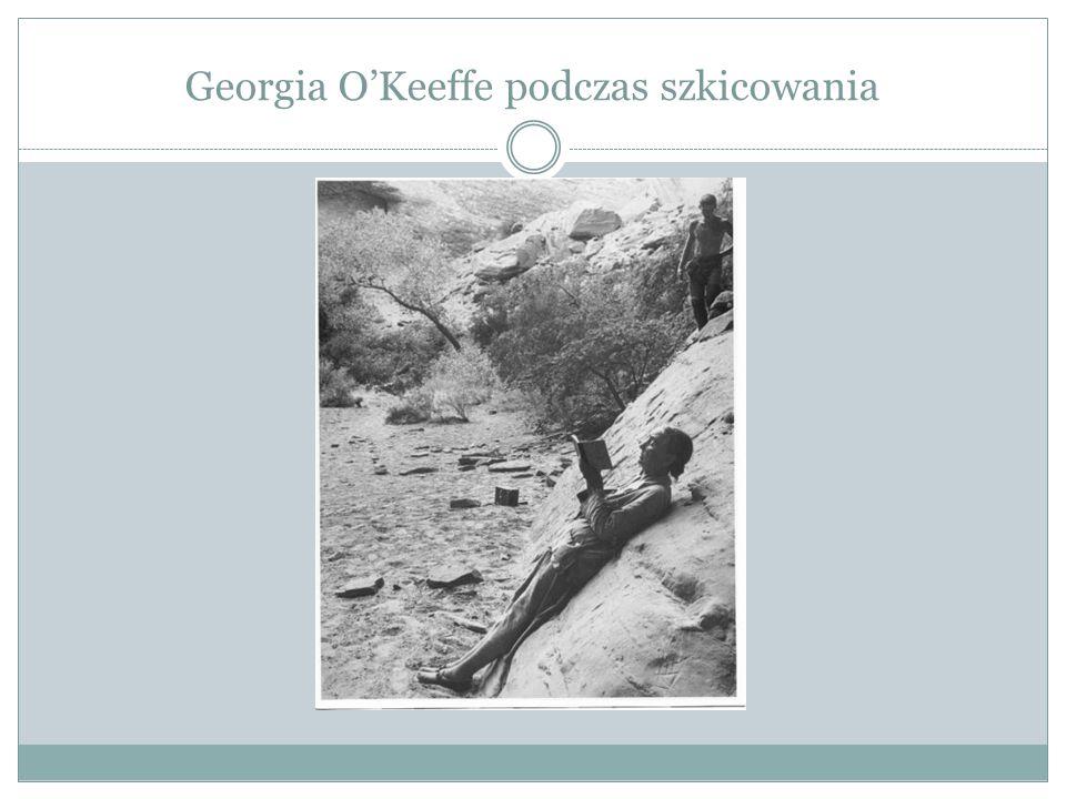 Georgia O'Keeffe podczas szkicowania