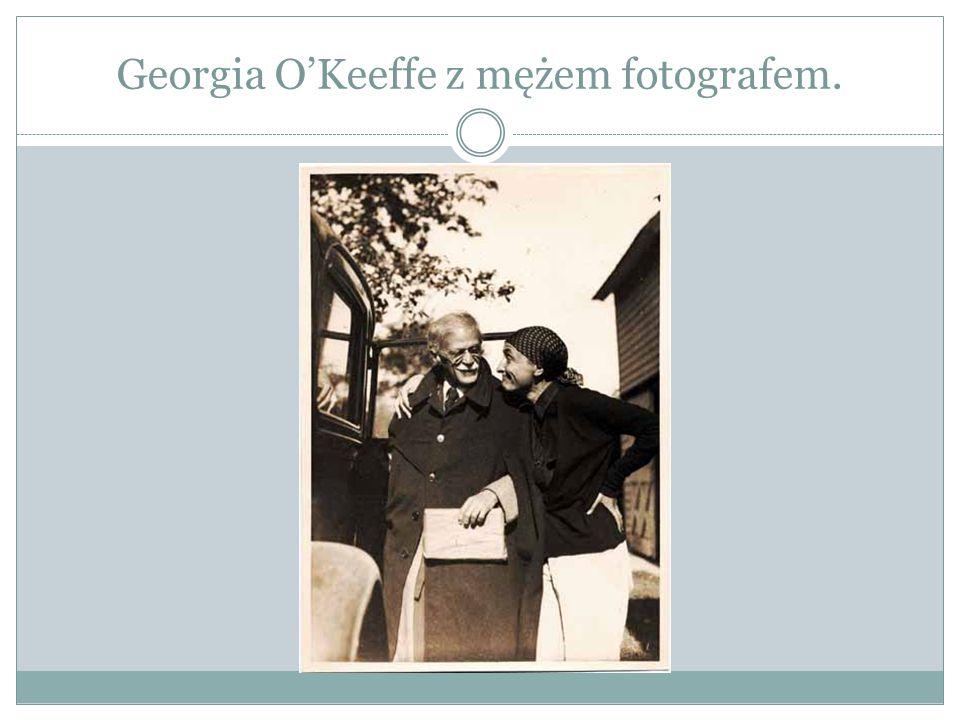 Georgia O'Keeffe z mężem fotografem.
