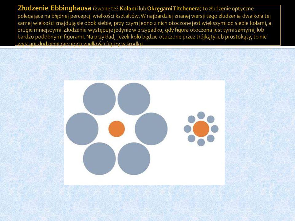 Złudzenie Ebbinghausa (zwane też Kołami lub Okręgami Titchenera) to złudzenie optyczne polegające na błędnej percepcji wielkości kształtów.
