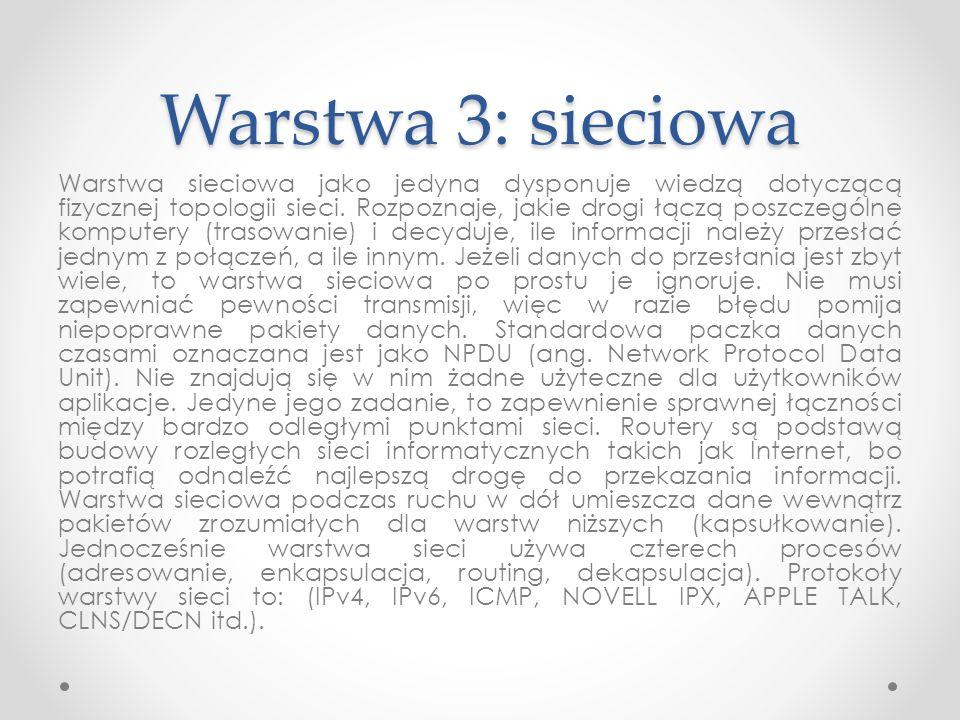 Warstwa 3: sieciowa