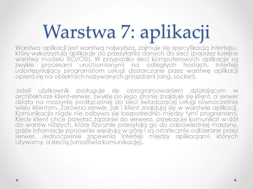 Warstwa 7: aplikacji