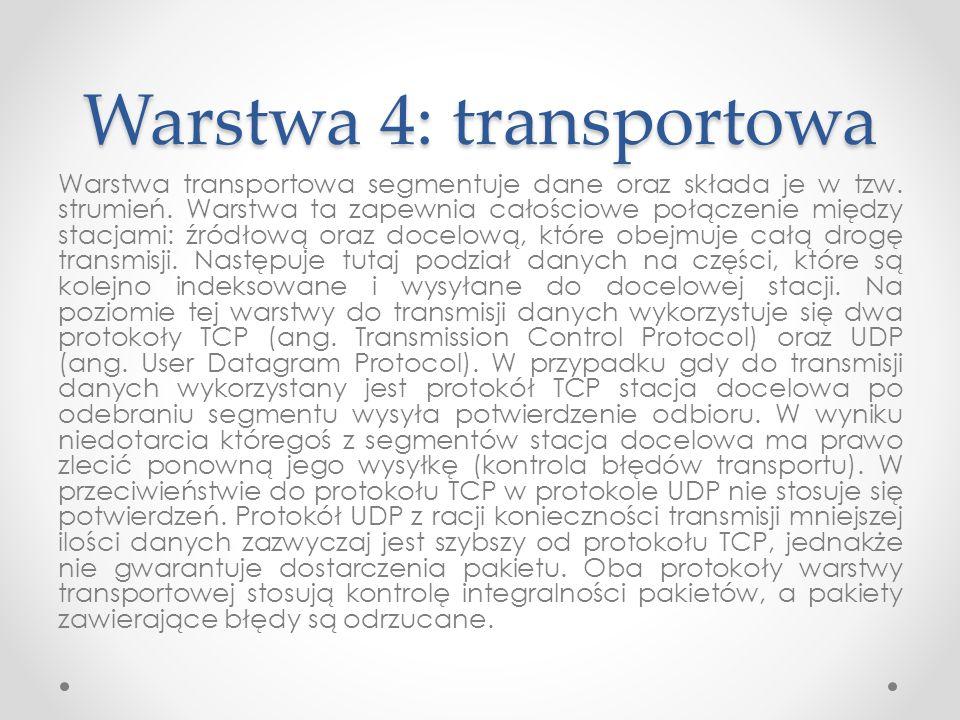 Warstwa 4: transportowa