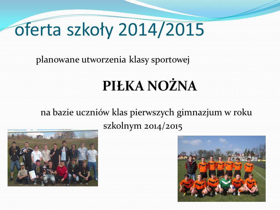 oferta szkoły 2014/2015 PIŁKA NOŻNA
