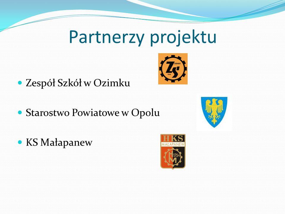 Partnerzy projektu Zespół Szkół w Ozimku Starostwo Powiatowe w Opolu