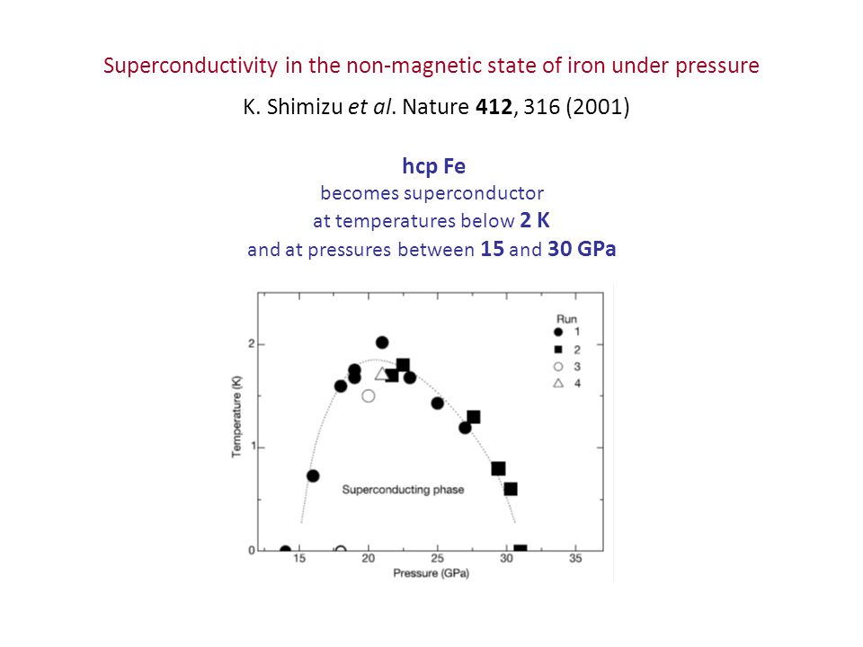 Superconductivity in the non-magnetic state of iron under pressure K