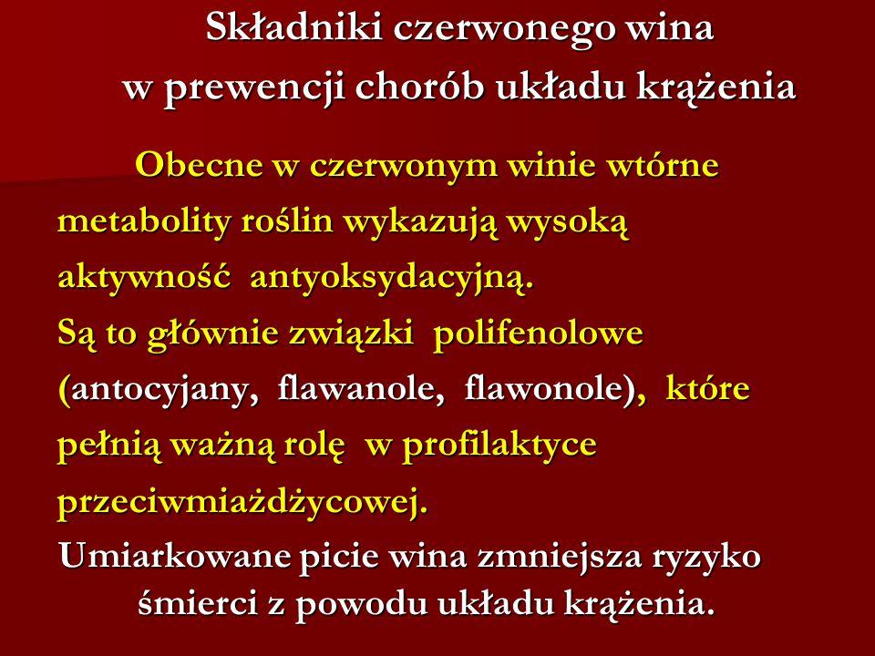 Składniki czerwonego wina w prewencji chorób układu krążenia