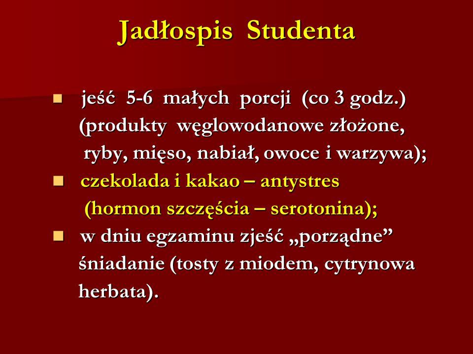 Jadłospis Studenta (produkty węglowodanowe złożone,