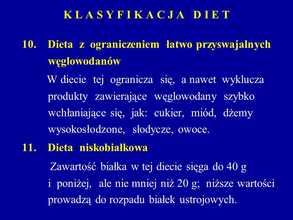 10. Dieta z ograniczeniem łatwo przyswajalnych