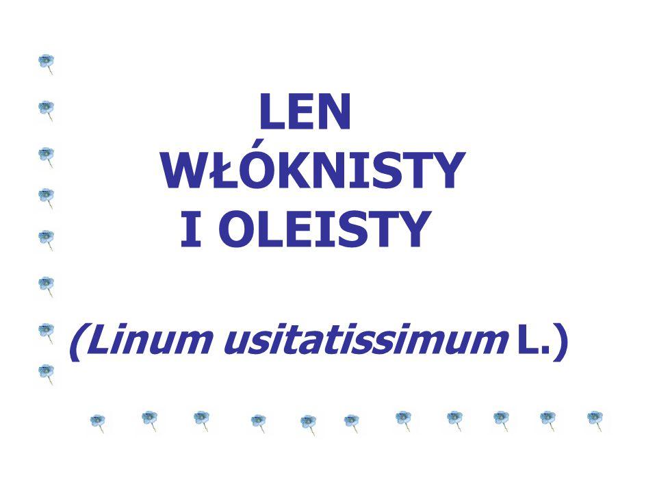 LEN WŁÓKNISTY I OLEISTY (Linum usitatissimum L.)
