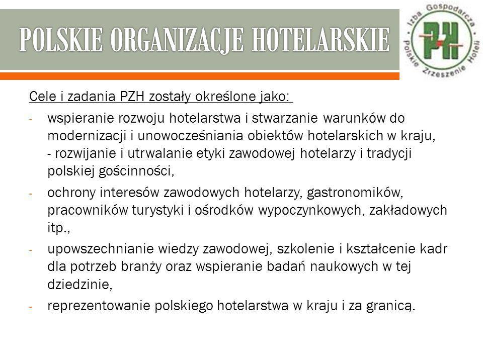 POLSKIE ORGANIZACJE HOTELARSKIE