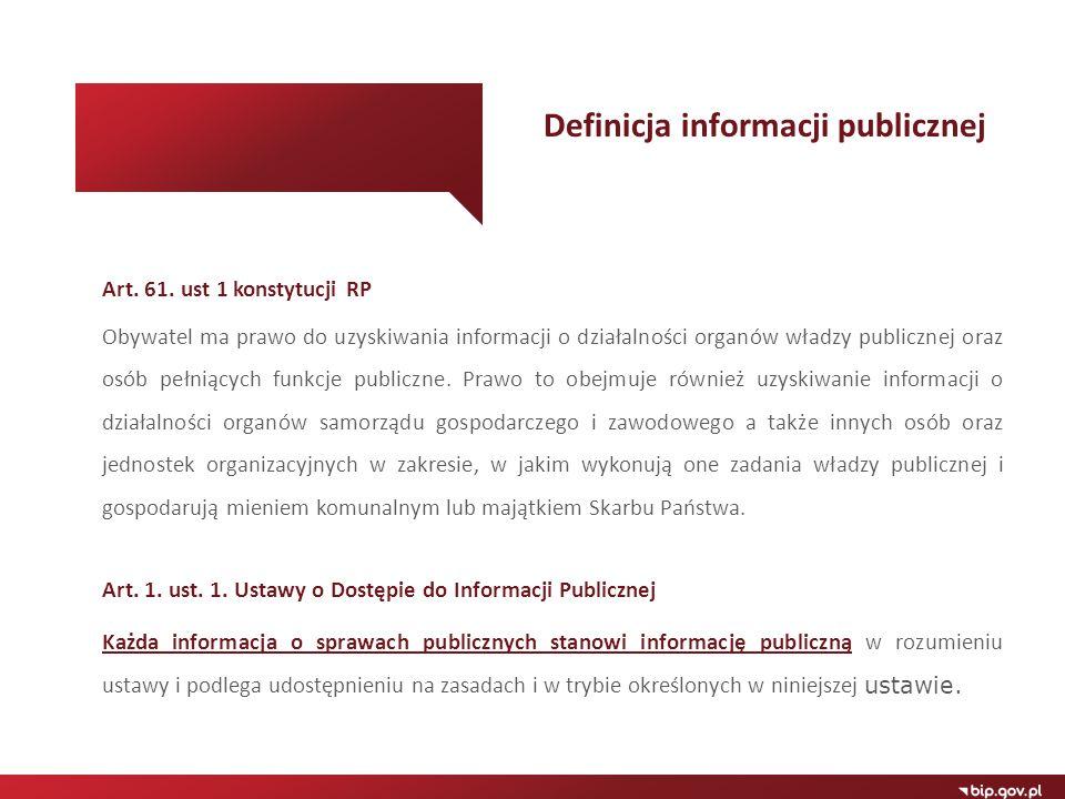 Definicja informacji publicznej