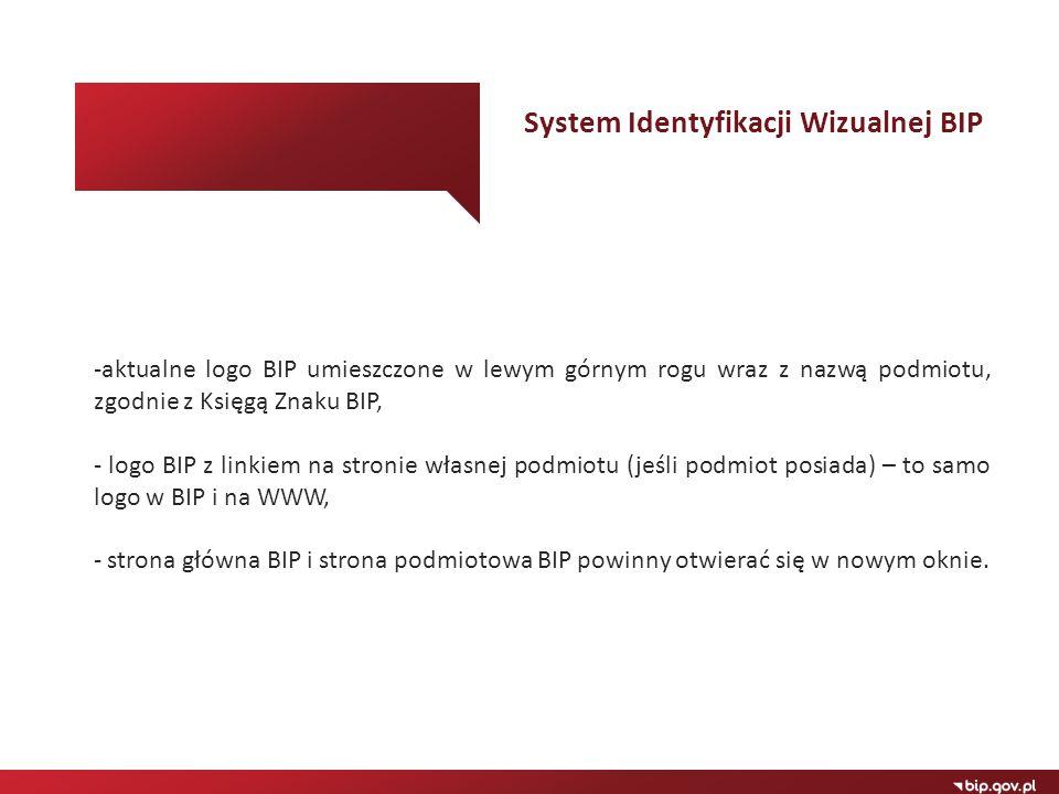 System Identyfikacji Wizualnej BIP