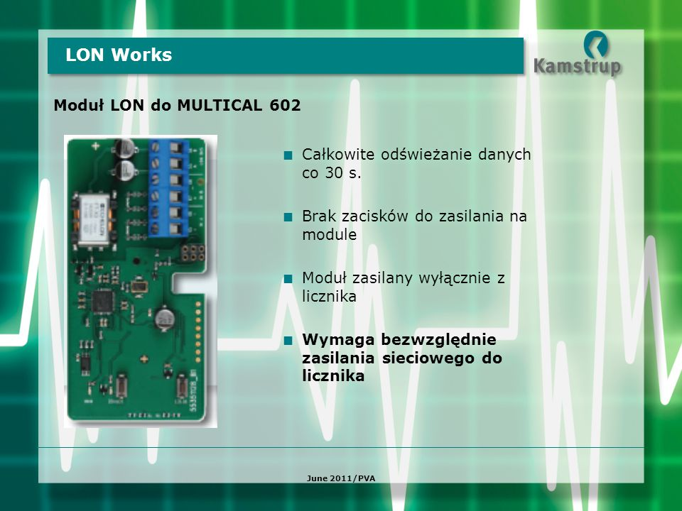 LON Works Moduł LON do MULTICAL 602