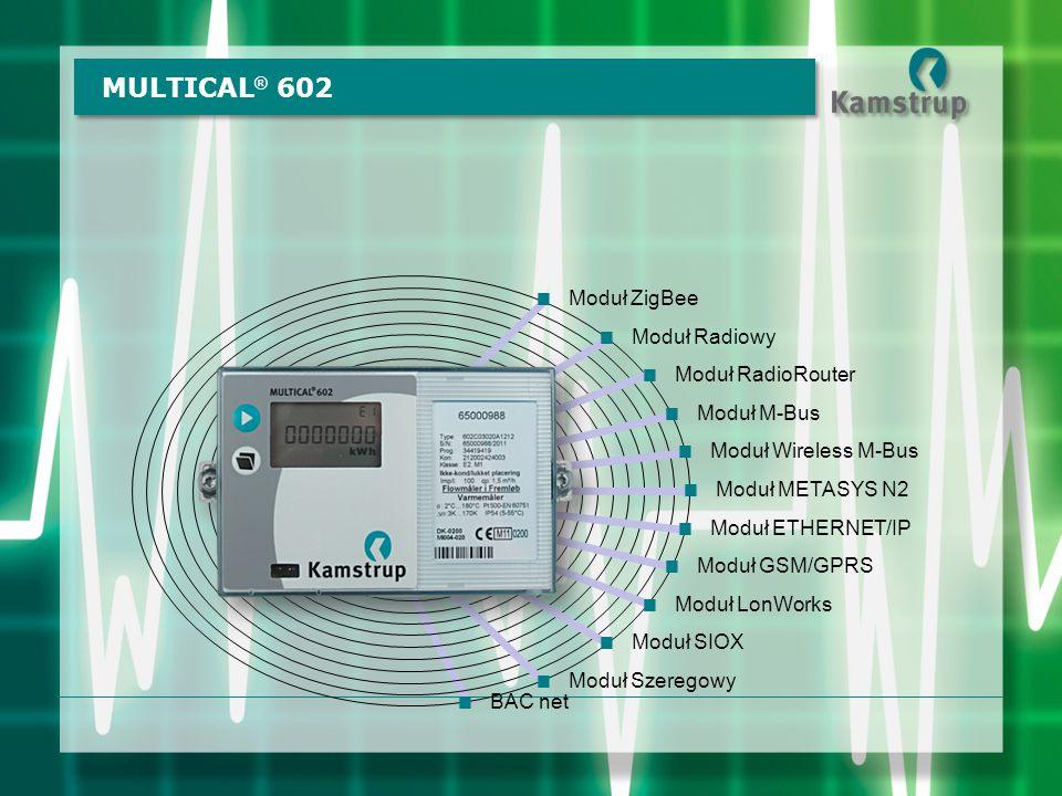MULTICAL® 602 Moduł ZigBee Moduł Radiowy Moduł RadioRouter Moduł M-Bus
