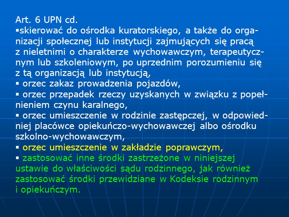Art. 6 UPN cd.