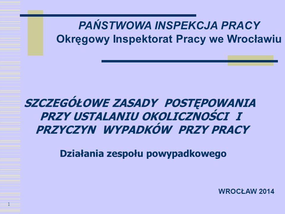 PAŃSTWOWA INSPEKCJA PRACY Okręgowy Inspektorat Pracy we Wrocławiu