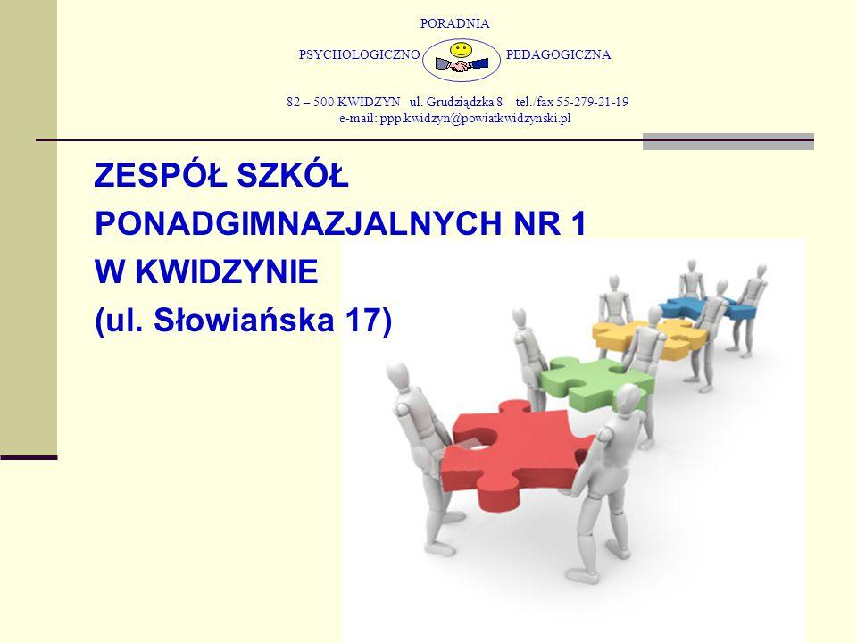 PONADGIMNAZJALNYCH NR 1 W KWIDZYNIE (ul. Słowiańska 17)