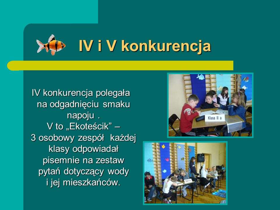 IV i V konkurencja