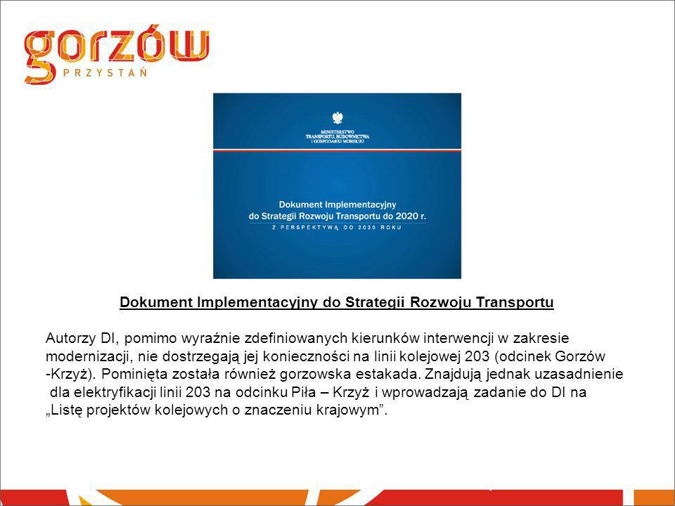 Dokument Implementacyjny do Strategii Rozwoju Transportu