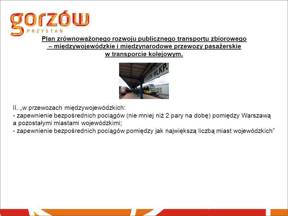 Plan zrównoważonego rozwoju publicznego transportu zbiorowego