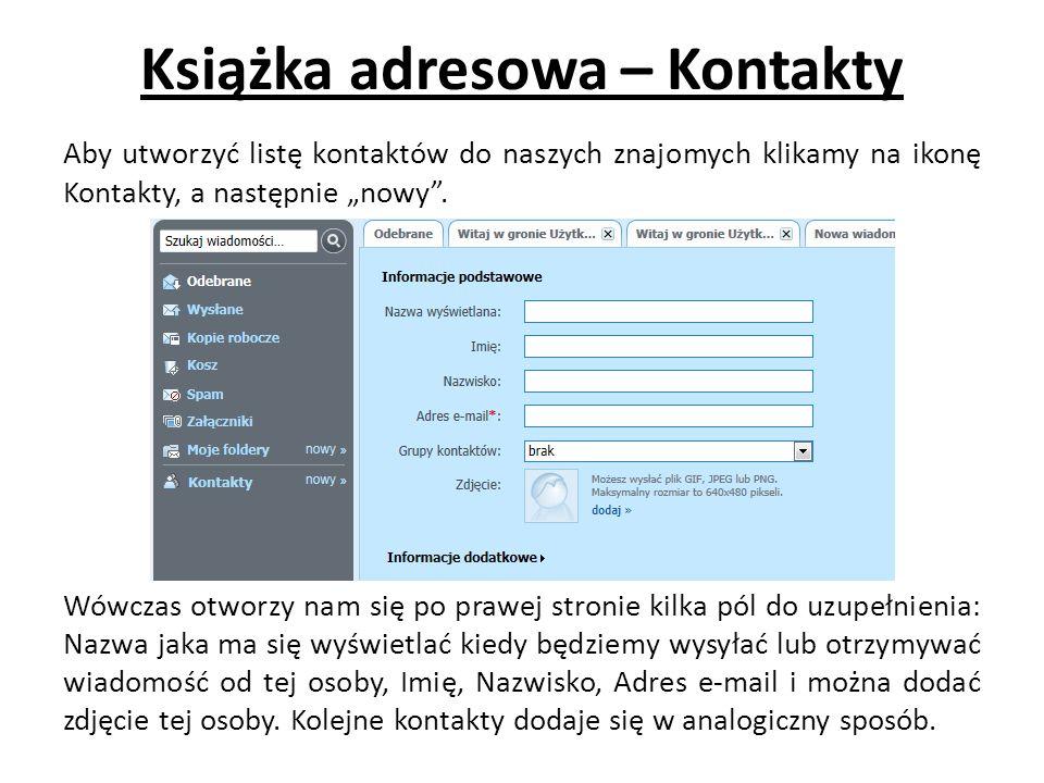 Książka adresowa – Kontakty