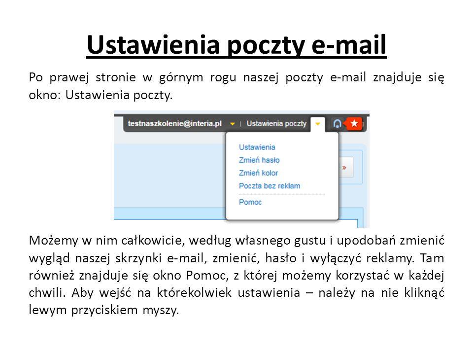 Ustawienia poczty e-mail