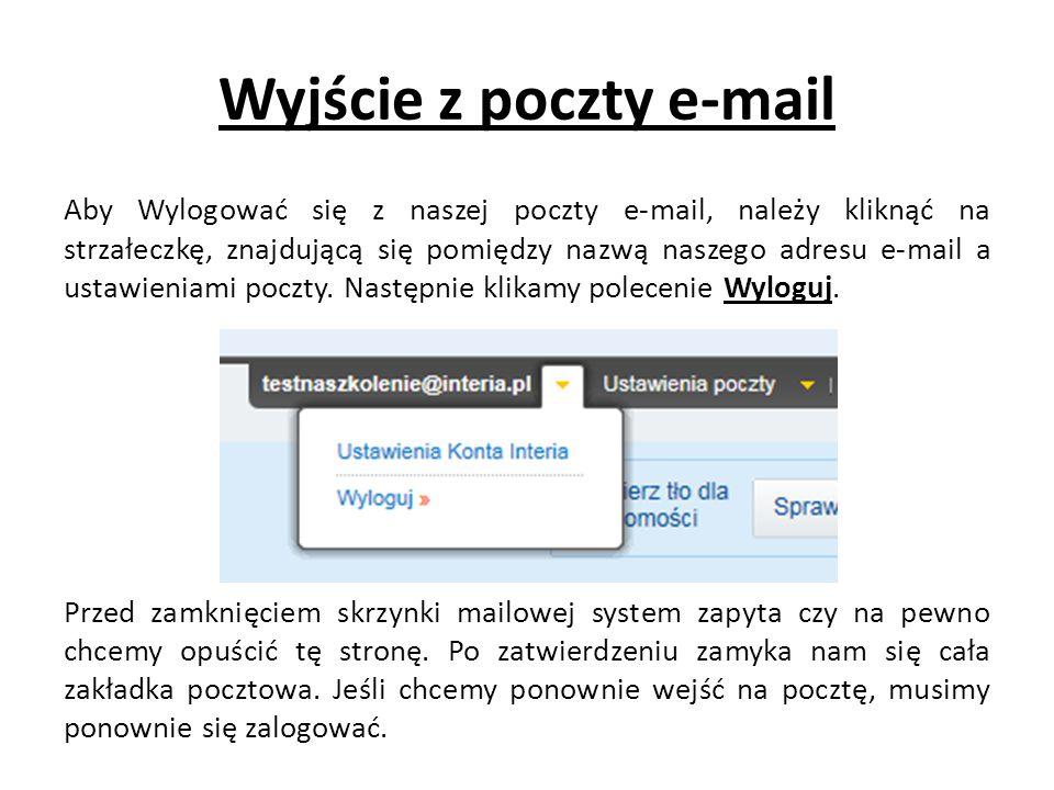 Wyjście z poczty e-mail