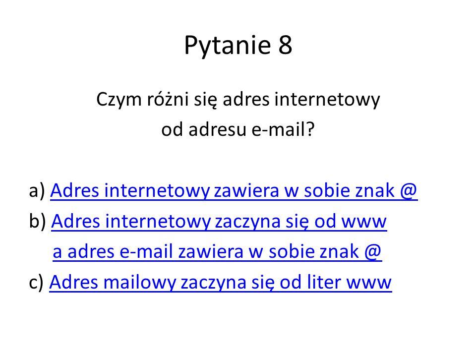 Czym różni się adres internetowy