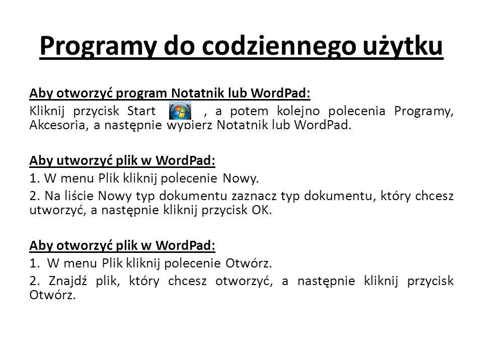 Programy do codziennego użytku