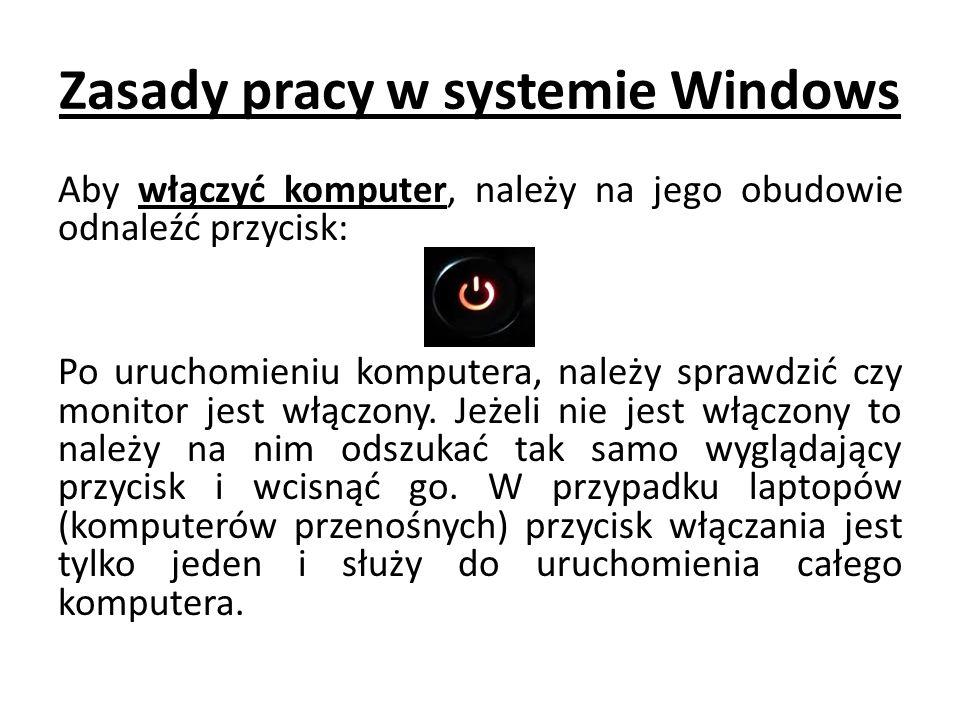 Zasady pracy w systemie Windows