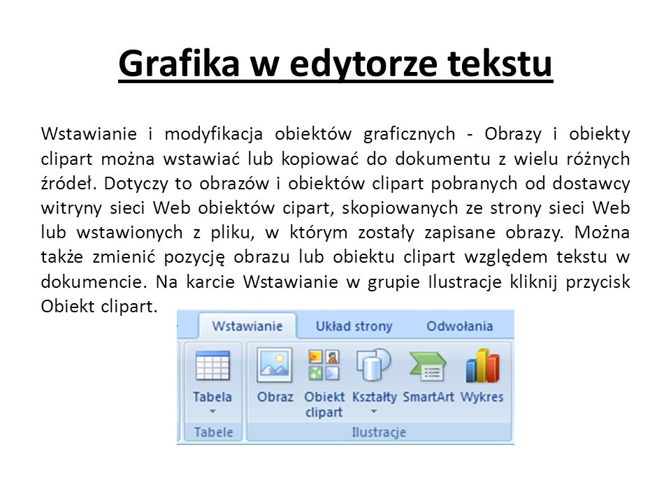 Grafika w edytorze tekstu