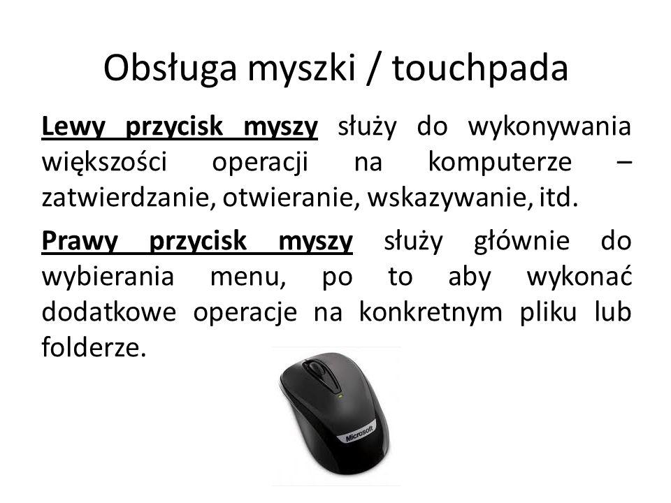 Obsługa myszki / touchpada