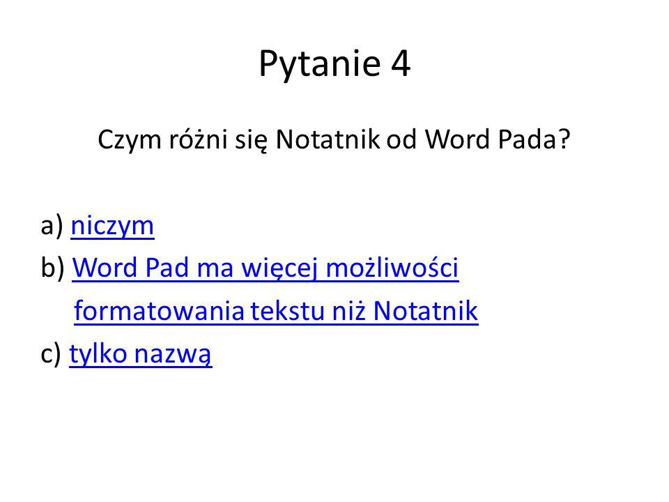 Czym różni się Notatnik od Word Pada
