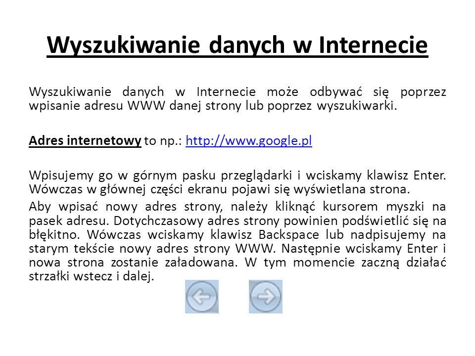 Wyszukiwanie danych w Internecie