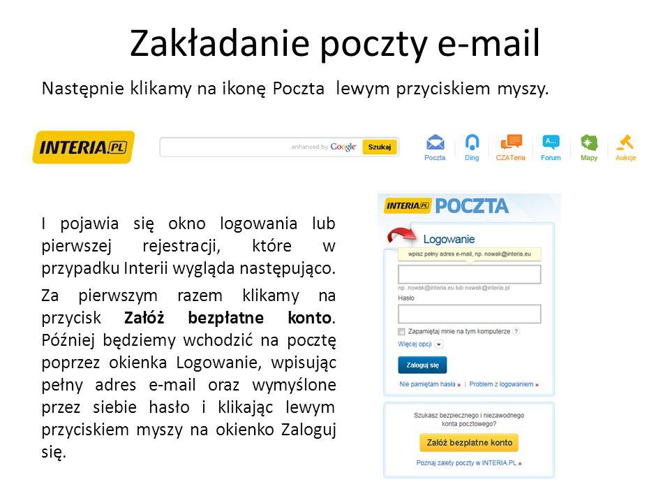 Zakładanie poczty e-mail