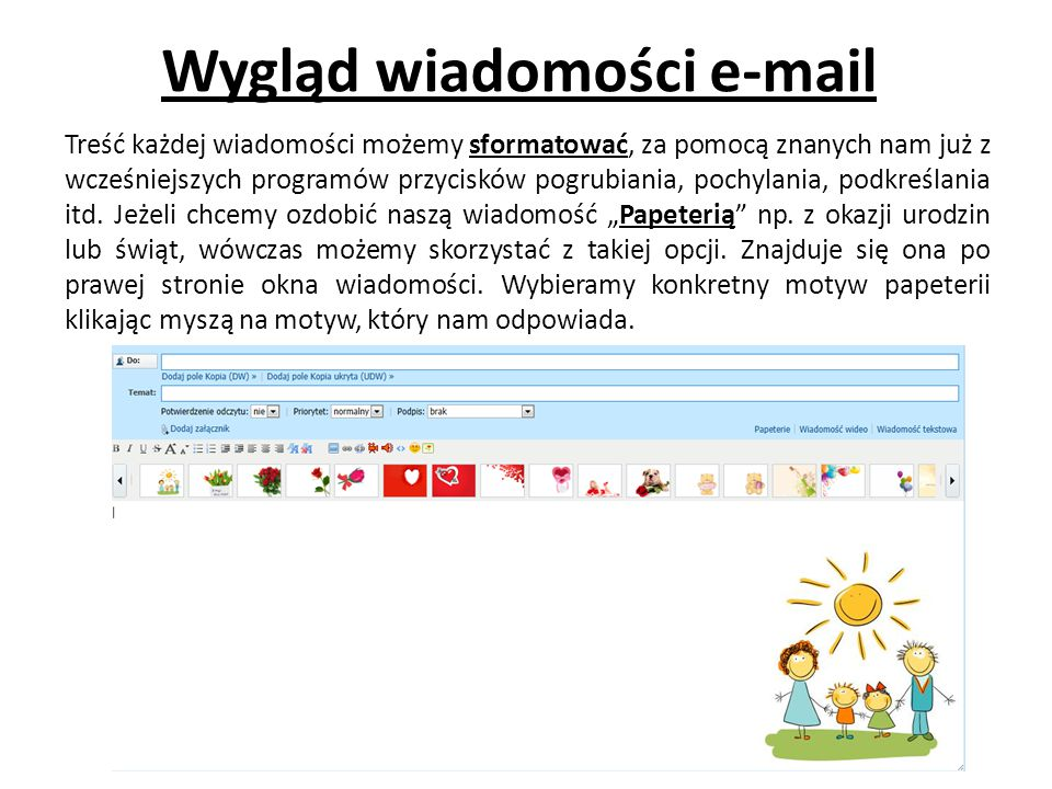 Wygląd wiadomości e-mail