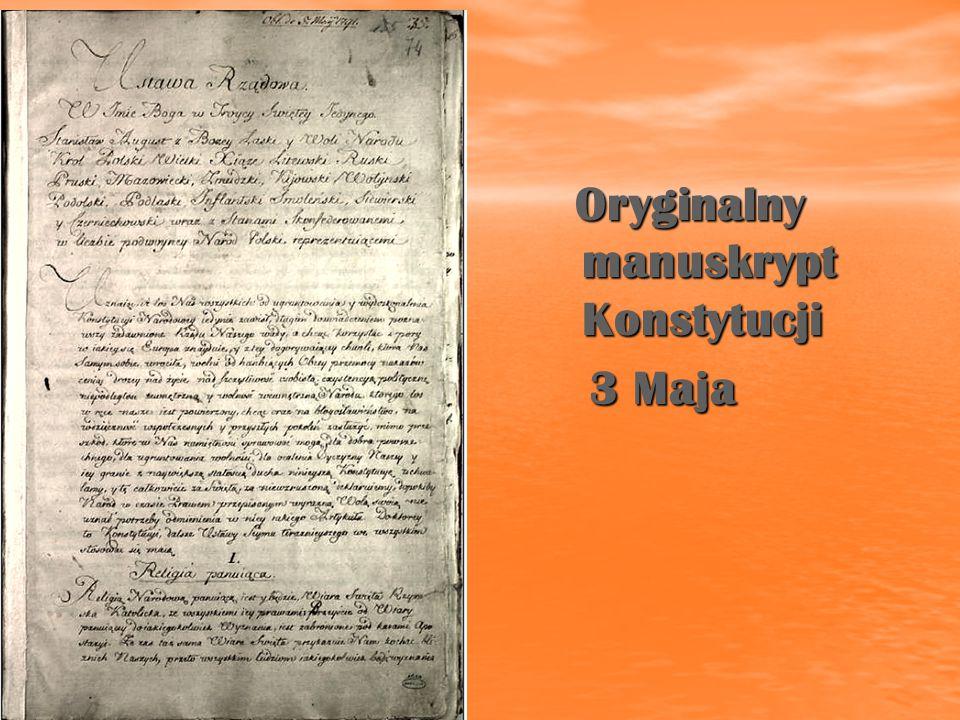Oryginalny manuskrypt Konstytucji