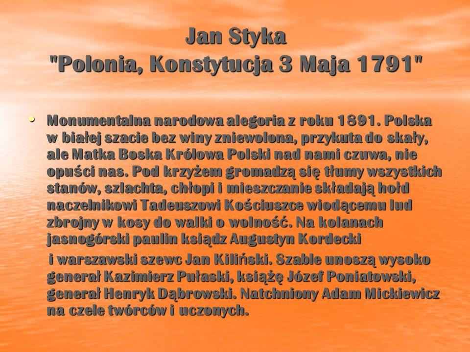 Jan Styka Polonia, Konstytucja 3 Maja 1791