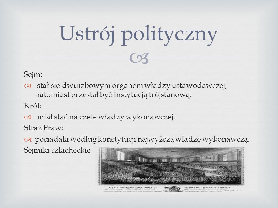 Ustrój polityczny Sejm:
